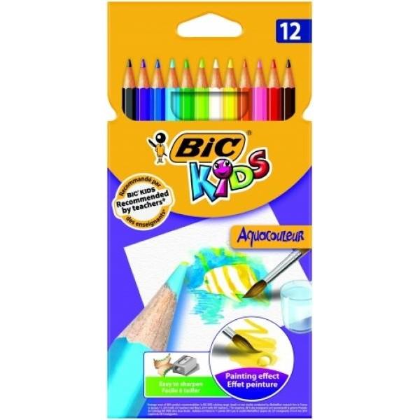 BIC Värvilised pliiatsid   AQUAQOULEUR Pouch 12 pcs 8575613