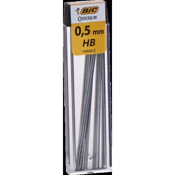 BIC Mehaaniliste pliiatsite  täitegrafiidid, refills LEADS 0.5 HB, 12, 038146