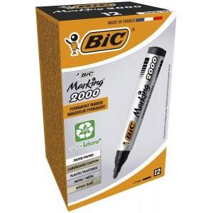 BIC veekindel marker, permanent MARKER ECO 2000 2-5 mm, black, Pouch 12 pcs 000095