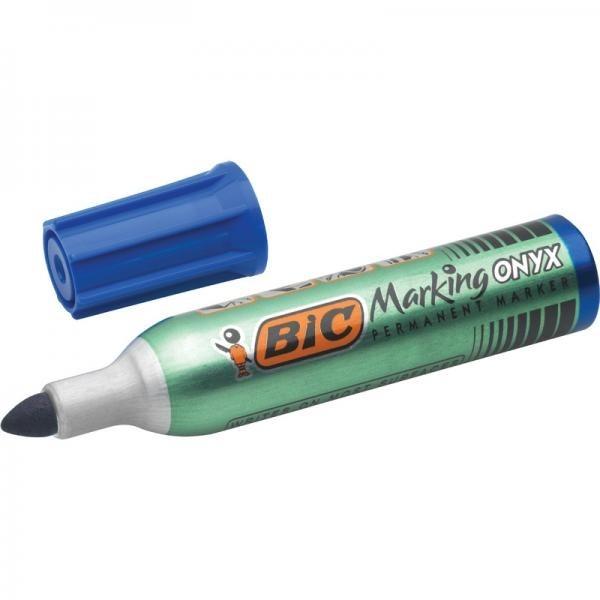 BIC veekindel marker,  Permanent Marker Onyx 1482 BLUE Box 12