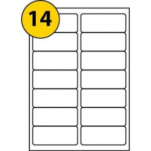 A4 Labels 14 Per Sheet. With print edge format. (99.1*38.1)*14. Sheets in box - 100