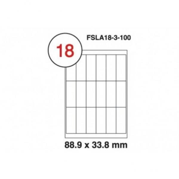 A4 Labels 16 Per Sheet. With print edge format. 88.9mm x 33.8mm X16. Sheets in box - 100