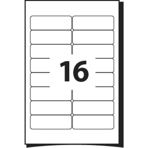 A4 Labels 16 Per Sheet. With print edge format. 99.1mm x 33.8mm X16. Sheets in box - 100