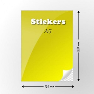 A4 Self Adhesive Sticker Sheets Labels. A4 Labels 2 Per Sheet. 210mm x 148mm X2. Sheets in box - 100