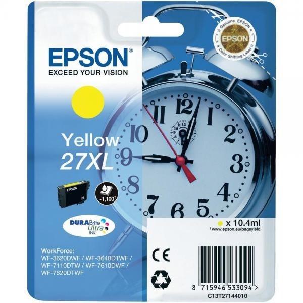 Epson tindikassett C13T27144010 T2714XL 27XL Y