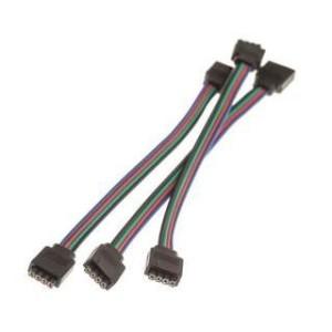 4PIN connection 15 cm RGB + black 4 pcs cables
