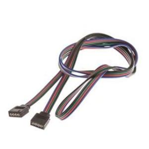 4PIN connection 100 cm RGB + black 4 pcs cables
