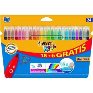 BIC Felt tip pens Kid Couleur, Pouch 24 pcs. 103240