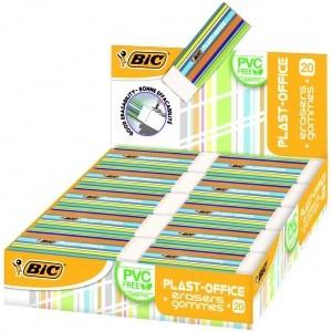 BIC Eraser Plastoffice, Pouch 20 pcs 388529