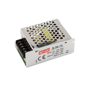 Toiteplokk 36W-12V-3A, IP20, 12V,  86*58*33mm