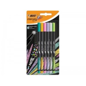 BIC Fineliners INTENSITY FINE PASTEL Blister 6 498334