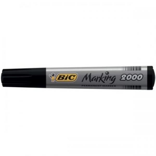 BIC veekindel marker, permanent MARKER ECO 2000 2-5 mm, black, Pouch 1 pcs 000095
