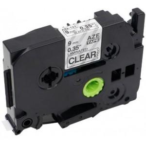 Dofe analog printeri label Brother TZ-121 TZ121 TZe-121 TZe121 Black on Clear