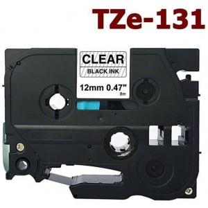 Dore analog Brother TZ-131/TZe-131 Label Maker Tape, 12mm x 8m, Black On Clear (Komplekt 10tk.)