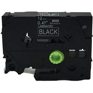 Dore analog Brother TZ-335 TZe-335 Label Maker Tape, 12mm x 8m, White on Black