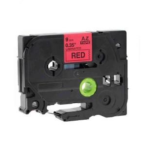 Dore analog Brother TZ-421/TZe-421 Label Maker Tape, 9mm x 8m, Black On Red
