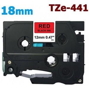 Dore analog Brother TZe-441 TZ-441  Label Maker Tape, 18mm x 8m, Black On Red