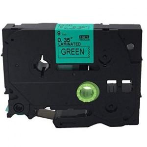 Dore analog Brother TZe-721 TZ-721 Label Maker Tape, 9mm x 8m, Black On Green