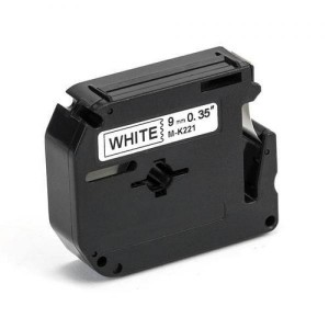 Dore analoog lint Brother M-K221 MK221 9mm x 8m Black on White