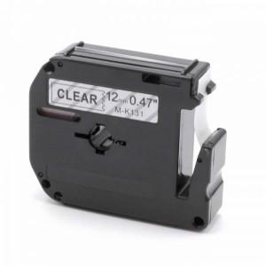 Dore analoog lint Brother MK-131 MK131 M-K131 12mm x 8mm, Black on Clear