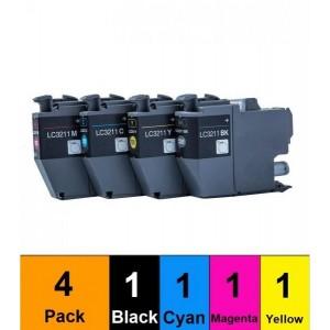 G&G analoog tindikassett Brother LC3211 Multi pack