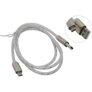USB кабель Defender USB08-03LT USB2.0 серый, LED, AM-MicroBM, 1м