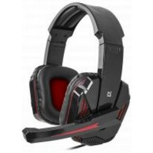 Gaming headset Defender Warhead G-260 red+ black, cable 1,8
