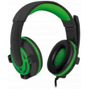 Gaming headset Defender Warhead G-300 green, cable 2,5 m