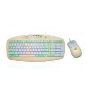 Laste komplekt  A4Tech KBS-6135E: Anti-RSI klaviatuur + optiline minihiir