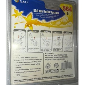G&G Täitmiskomplekt HP 564BK, XLBK, PBK, 920BK, 364BK, XLBK, PBK, 862BK, XLBK, PBK
