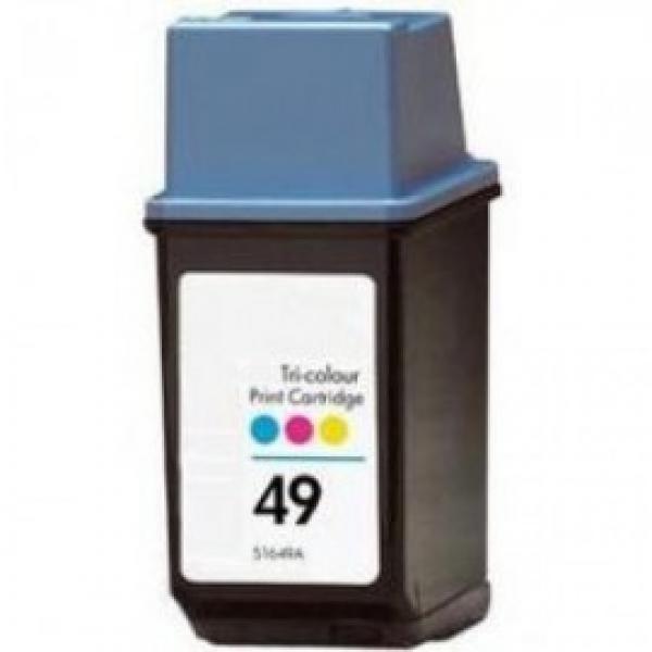 HP tindikassett 51649AE HP 49 CMY