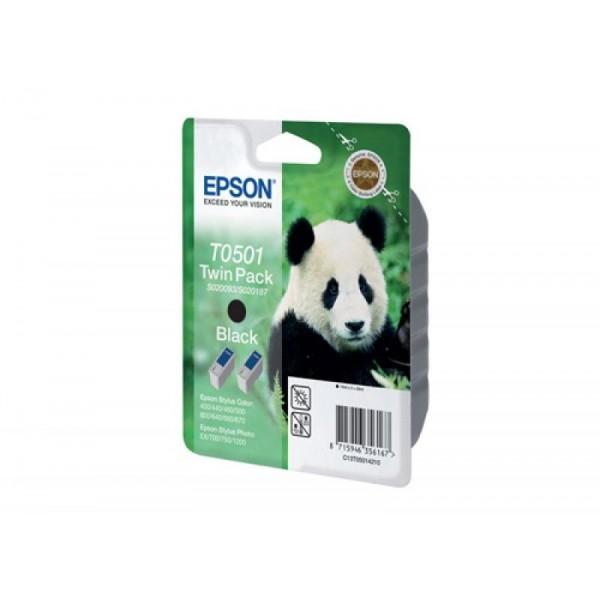 Epson tindikassett C13T05014010 T0501 BK T0501-BK