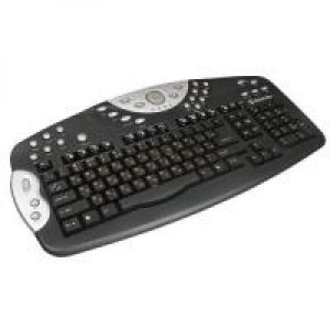 Проводная мультимедийная клавиатура Defender Luna KM-2080B LIT/RUS