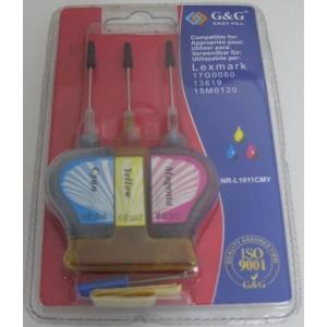 G&G analog ink cartridge Lexmark NR-L1011CMY