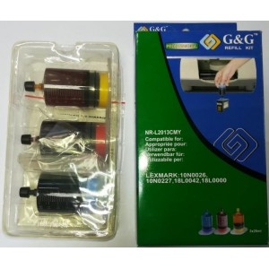 G&G Täitmiskomplekt Lexmark 10N0026, 10N0016, 10N0227, 18L0042, 18L0000