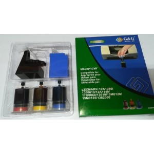 G&G Refill Complect Lexmark 12A1980 1380619 12A1140 17G0060 13619 15M0120 15M0125 1382060