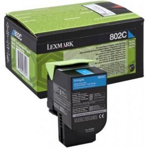 Lexmark картридж с тонером 802C 80C20C0 Cyan