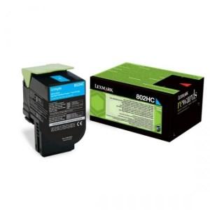 Lexmark toonerkassett 802HC 80C2HC0 Cyan