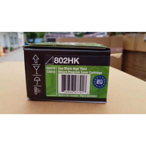 Lexmark toonerkassett 802HK 80C2HK0 Black