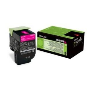Lexmark toonerkassett 802HM 80C2HM0 Magenta