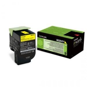 Lexmark toonerkassett 802HY 80C2HY0 Yellow