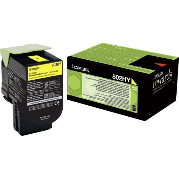 Lexmark toonerkassett 802HYE 80C2HY0 Yellow