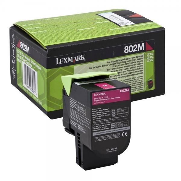 Lexmark toonerkassett 802M 80C20M0 Magenta