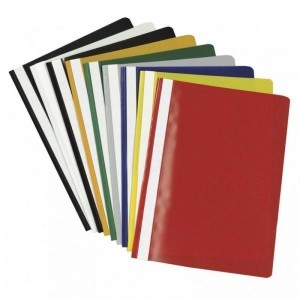 Kiirköitjad Quick binder PVC A4 quotation folder A4, kollane,25 tk pakis
