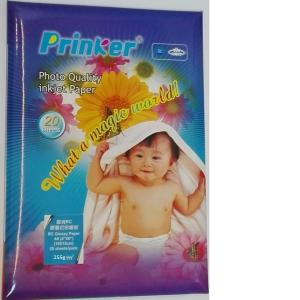 "Fotopaber Prinker A6 (4""X6""), 10x15cm, 255g/m, Coated glossy 20 lehte"