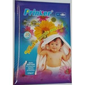 """Fotopaber Prinker A6 (4""""X6""""), 10x15cm, 230g/m Glossy 20 lehte"""