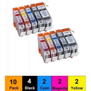Dofe analoog tindikassett Komplekt PGI-520 BK CLI-521 BK/C/M/Y 10 tk (BK- 4 tk, C- 2 tk, M- 2 tk, Y- 2 tk)