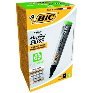 BIC veekindel marker ECO 2300 4-5 mm, green, Pouch 12 pcs 300027