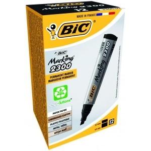 BIC permanent MARKER ECO 2300 4-5 mm, black Pouch 12 pcs 300096