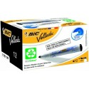 BIC tahvli marker VELL 1701, 1-5 mm , black, Pouch 12 pcs 701092